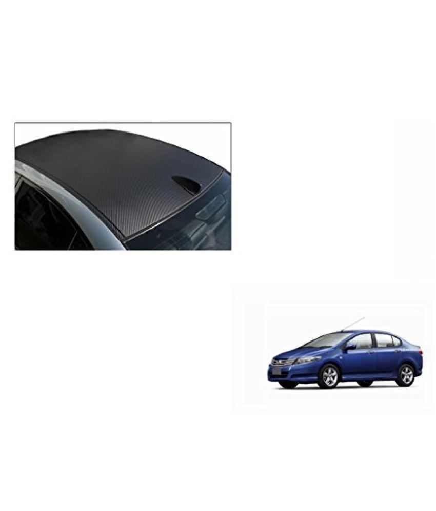 Speedwav Car Roof Wrap Sheet Carbon Design Matt Black-Honda City Type 4 (2009-2014)