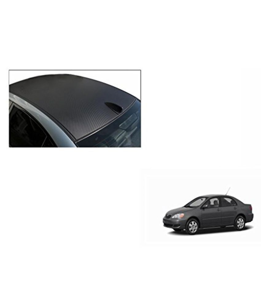 Speedwav Car Roof Wrap Sheet Carbon Design Matt Black-Toyota Corolla Type 1 (2003-2008)