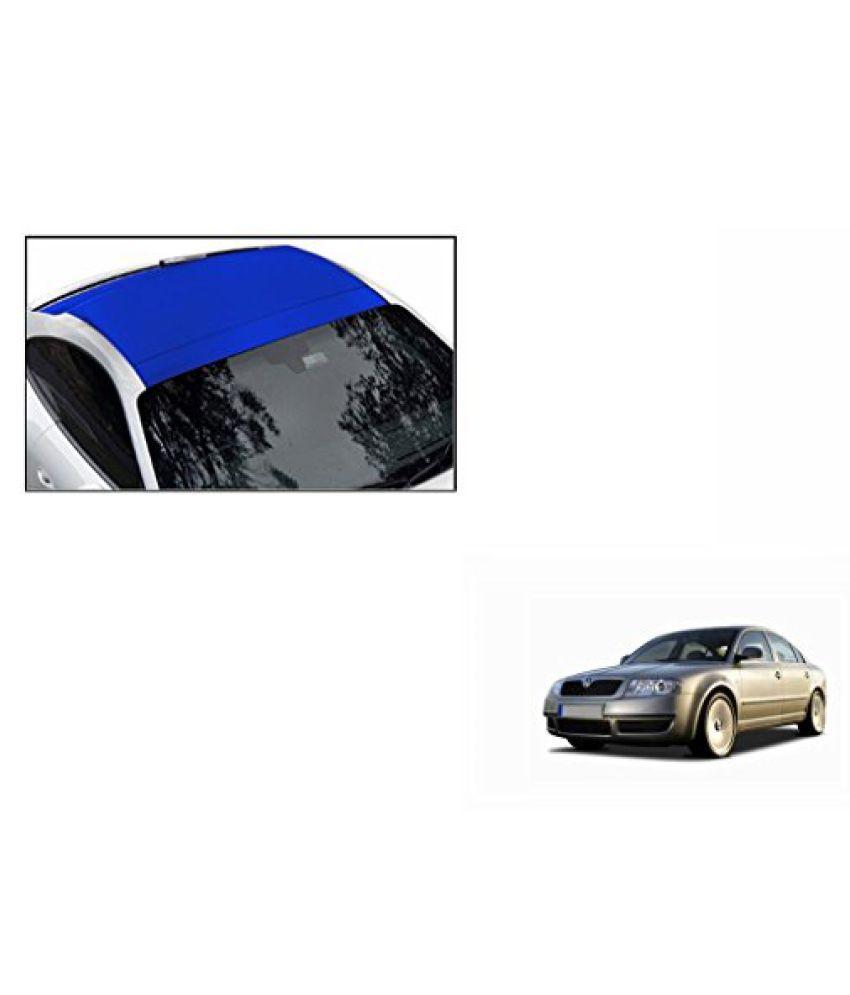 Speedwav Car Roof Wrap Sheet Matt Blue-Skoda Superb Type 1 (2004-2010)