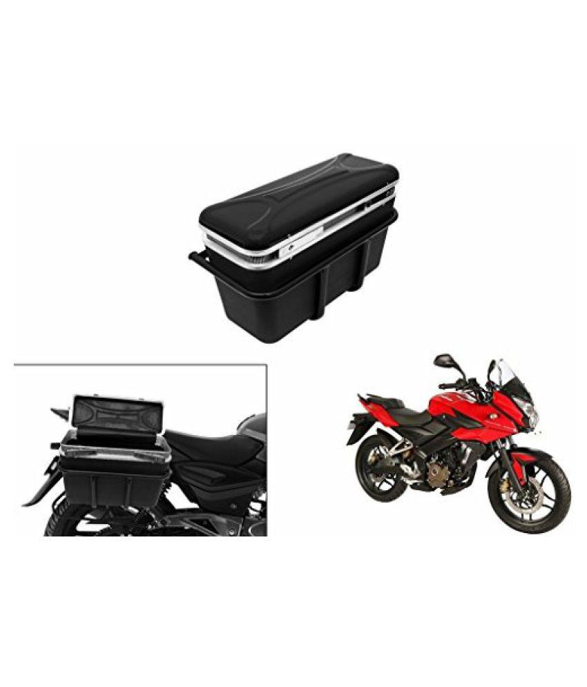 Speedwav DLB-1 Bike Double Lock Luggage Box Black-Bajaj Pulsar 200AS DTS-i