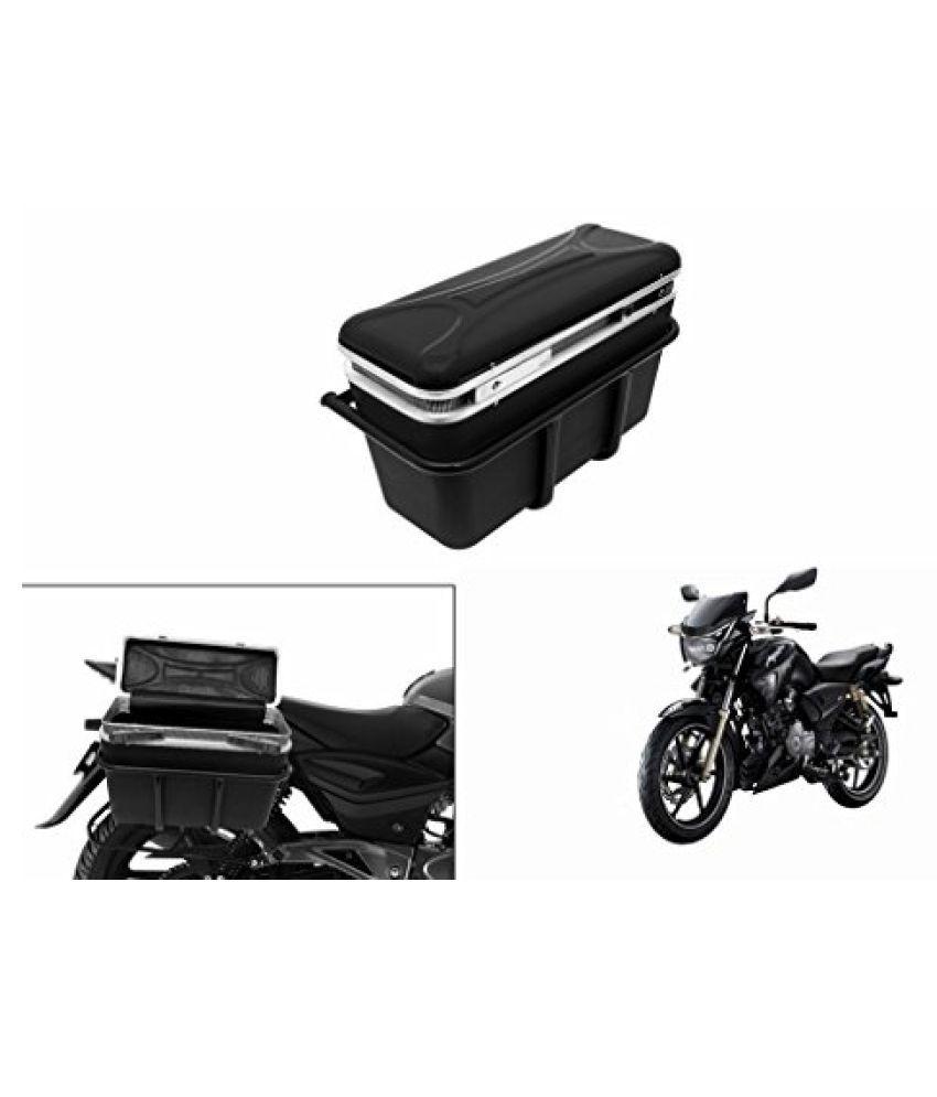 Speedwav DLB-1 Bike Double Lock Luggage Box Black-TVS Apache RTR 180