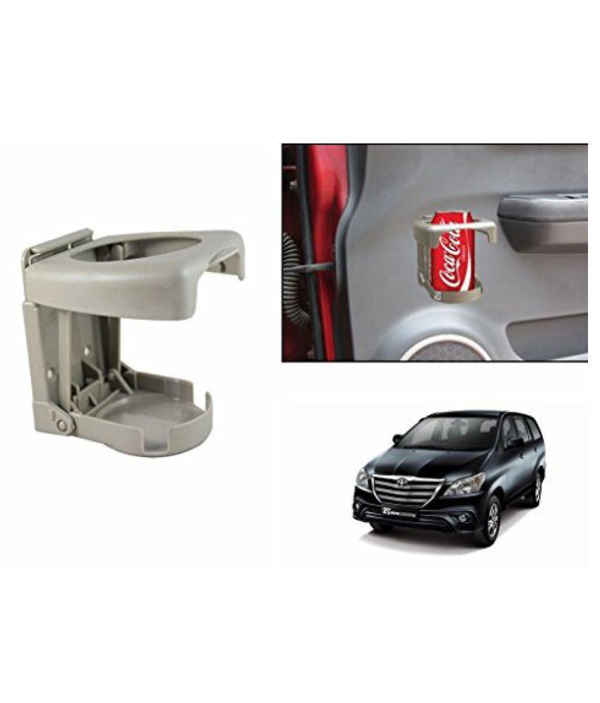 Speedwav Foldable Car Drink Holder Beige-Toyota Innova Type 4 (2014-2015)