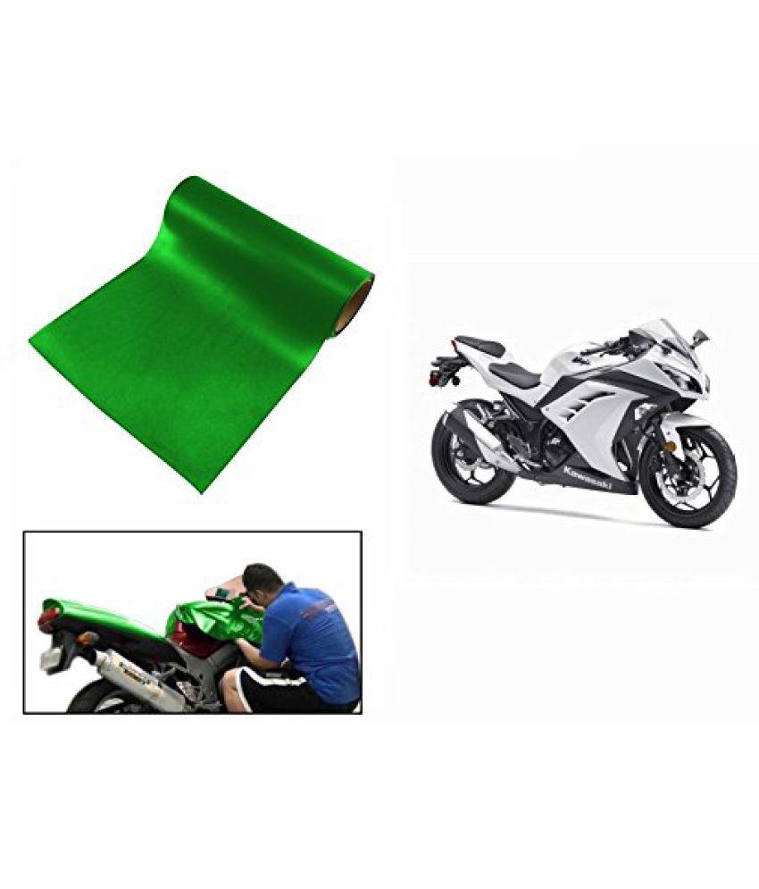 Speedwav Matt Green 4 Meter Bike Wrap Sheet-Kawasaki Ninja 400