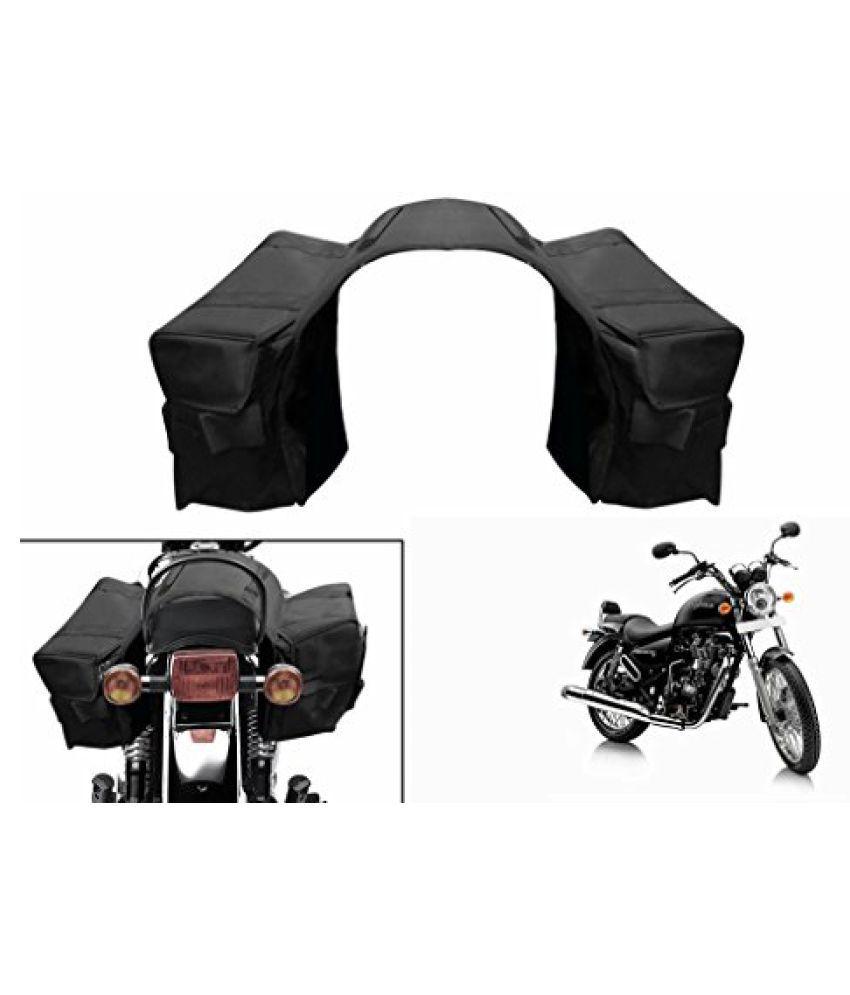Speedwav Water Proof Bike Twin Saddle Bags Black-Enfield Thunderbird 500 Type 1