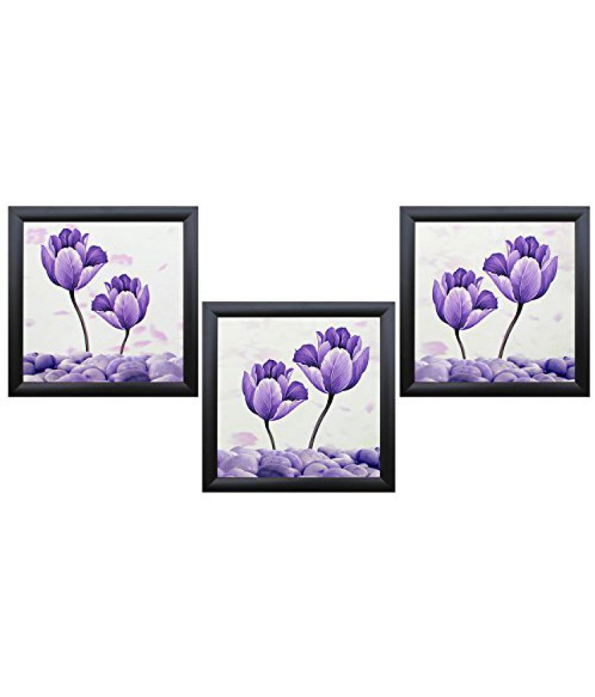 SAF Acrylic Textured Effect Framed Painting (Set Of 3, Dimension(LXBXH): 11 X 2 X 11 Cms)