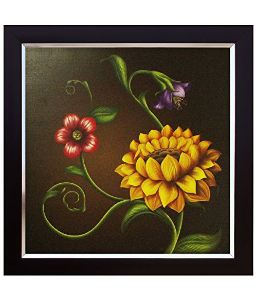 SAF Canvas Coated Wall Painting (Acrylic, 14 x 2 x 14 inches)