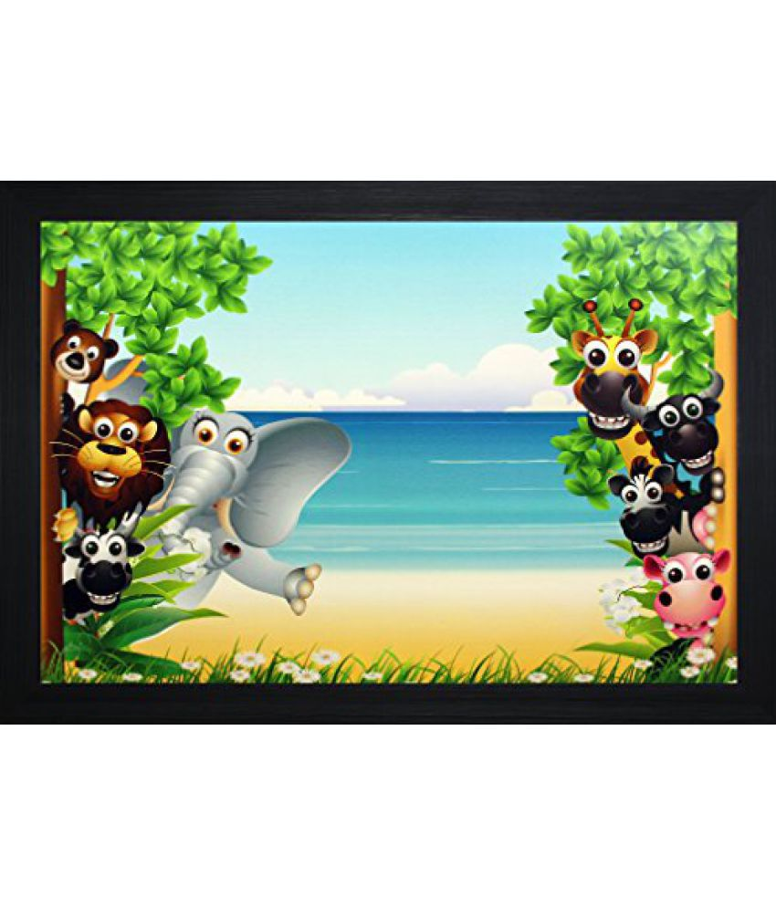 SAF 'Kids' Wall Painting (Synthetic, 30 cm x 3 cm x 45 cm, SA-2725)