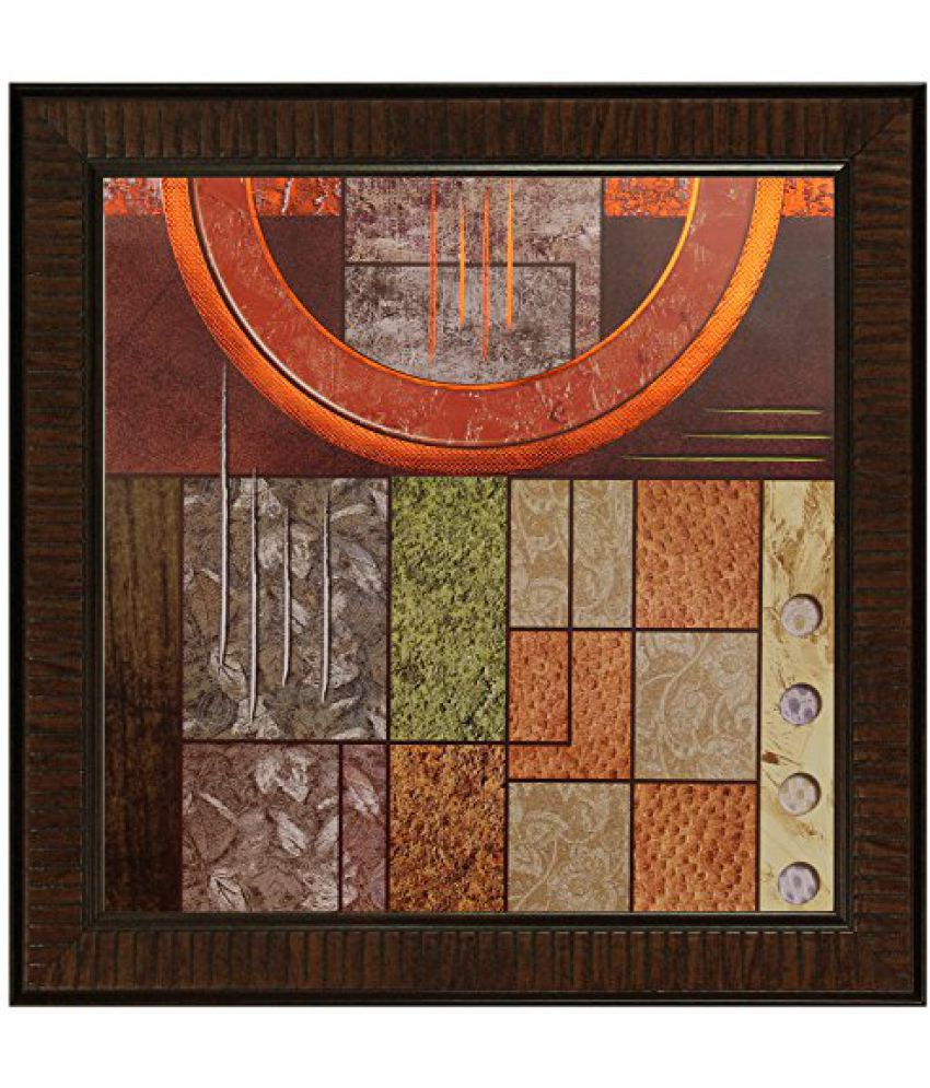 SAF Multi Effect Print Oil Painting (SANFO435, 30 cm x 3 cm x 30 cm)