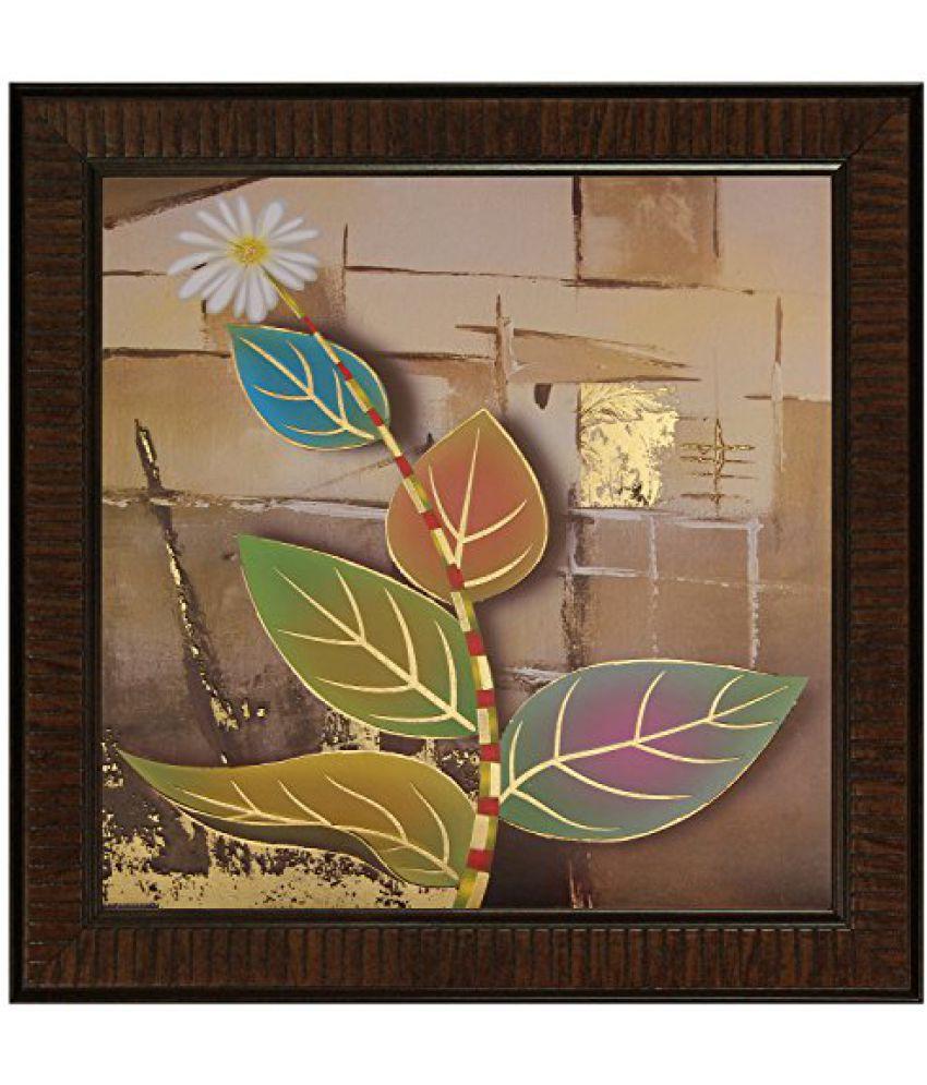 SAF Multi Effect Print Oil Painting (SANFO443, 30 cm x 3 cm x 30 cm)