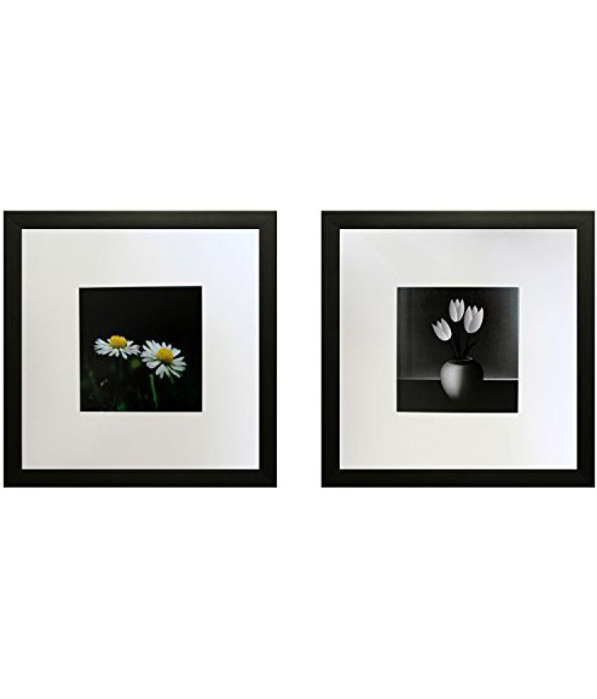 SAF Set Of 2 Textured Print With Uv Framed Reprint Painting (SANFO780, 25 cm x 3 cm x 25 cm)
