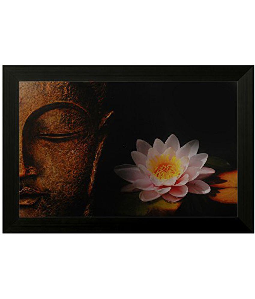 SAF Special Effect Textured Buddha Painting (SANFO134, 30 cm x 3 cm x 45 cm)