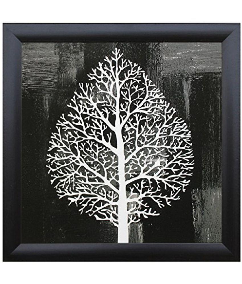 SAF Special Effect Textured Floral with UV Print Painting (SANFO255, 20 cm x 3 cm x 20 cm)