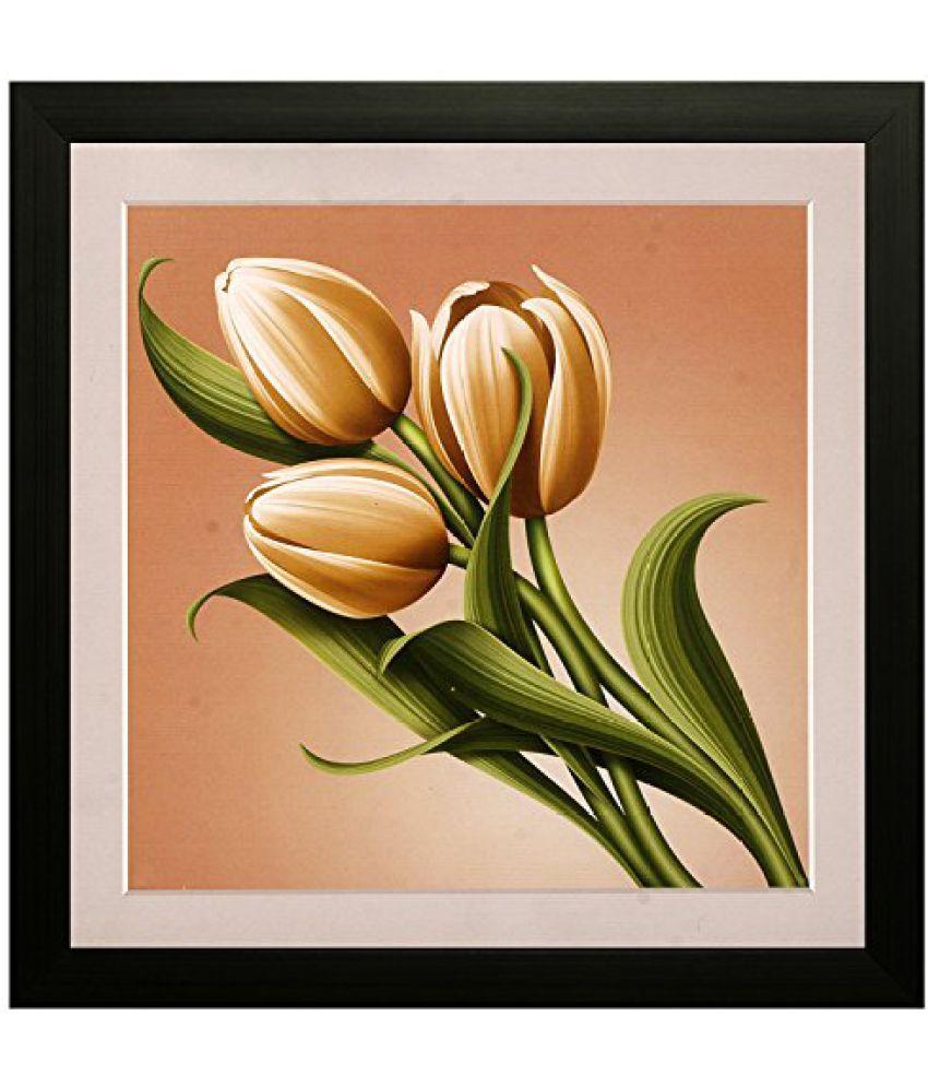 SAF Special Effect Textured Floral Painting (SANFO120, 30 cm x 3 cm x 30 cm)