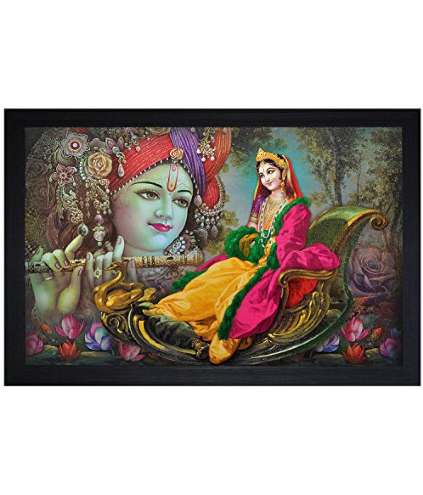 SAF Special Effect Textured Radhey Krishna Ji Painting (SANFO21, 30 cm x 3 cm x 45 cm)