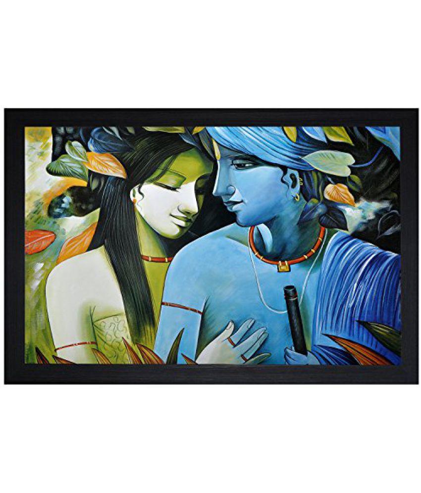SAF Special Effect Textured Radhey Krishna Ji Painting (SANFO39, 30 cm x 3 cm x 45 cm)