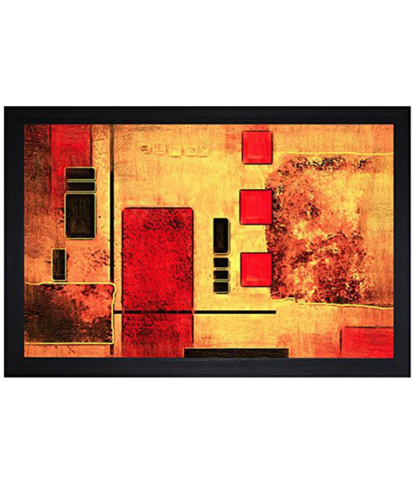 SAF Textured Print with UV Framed Reprint Painting (SANFO731, 30 cm x 3 cm x 45 cm)