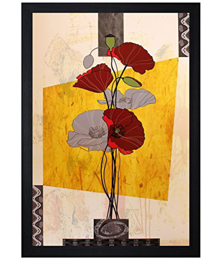 SAF Textured Print with UV Framed Reprint Painting (SANFO485, 30 cm x 3 cm x 45 cm)