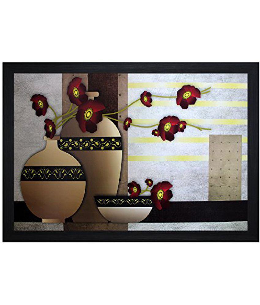 SAF Textured Print with UV Framed Reprint Painting (SANFO538, 30 cm x 3 cm x 45 cm)