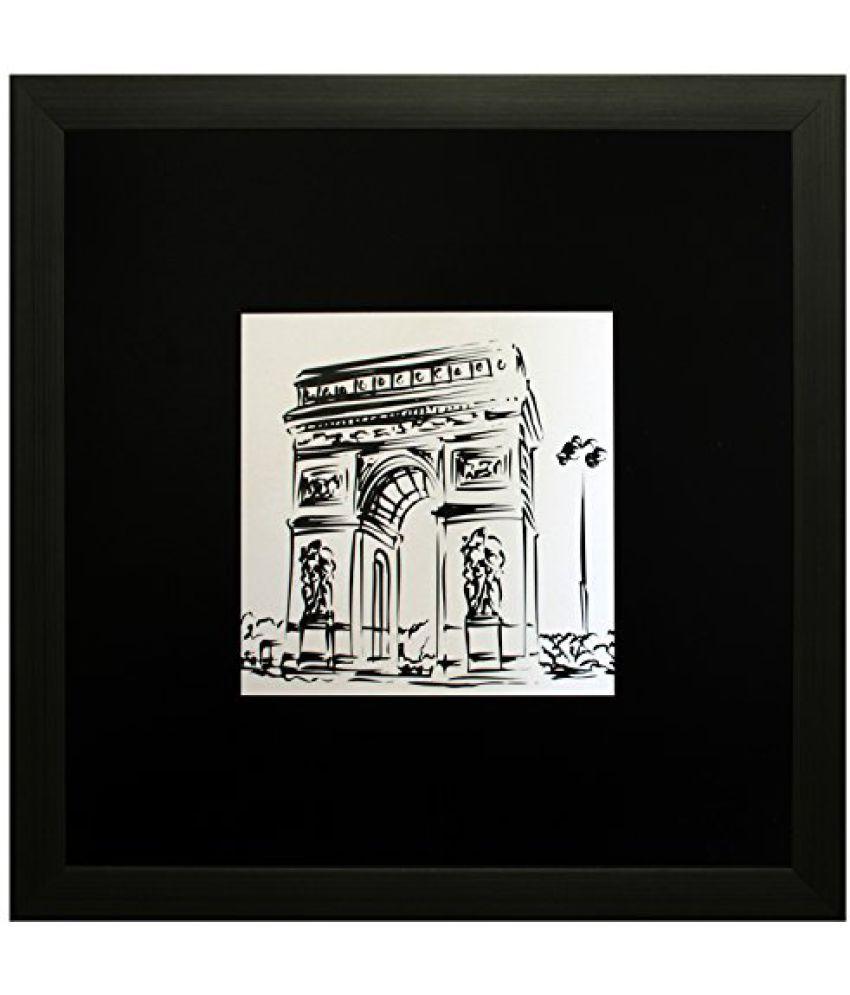 SAF Textured Print with UV Framed Reprint Painting (SANFO649, 25 cm x 3 cm x 25 cm)