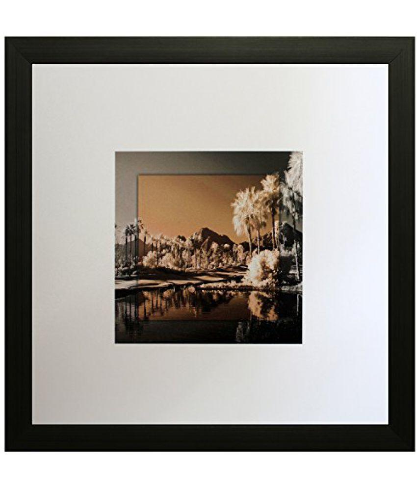 SAF Textured Print with UV Framed Reprint Painting (SANFO575, 25 cm x 3 cm x 25 cm)