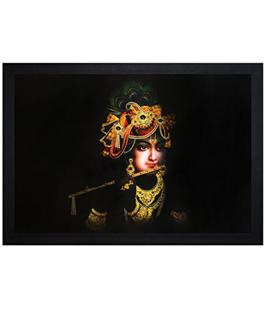 SAF Textured Print with UV Framed Reprint Painting (SANFO843, 30 cm x 3 cm x 45 cm)
