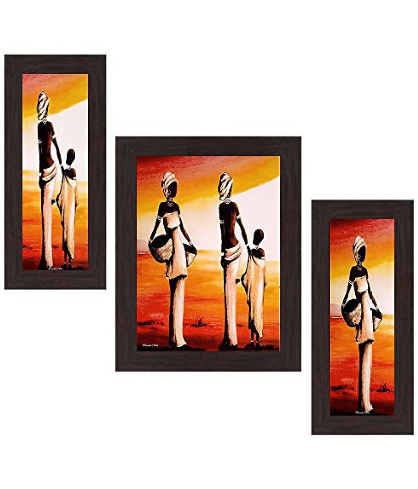 Wens People View MDF Wall Art (14.5 cm x 29 cm x 1 cm, Set of 3)