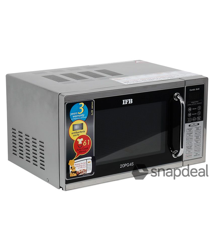 Ifb 20 Ltr 20pg4s Grill Microwave Oven Metallic Silver