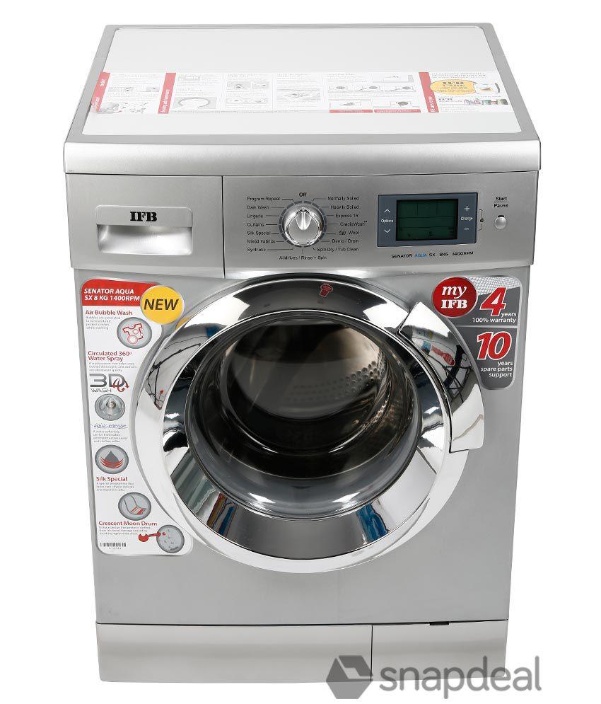 Ifb 8kg Senator Aqua Sx Fully Automatic Front Load Washing