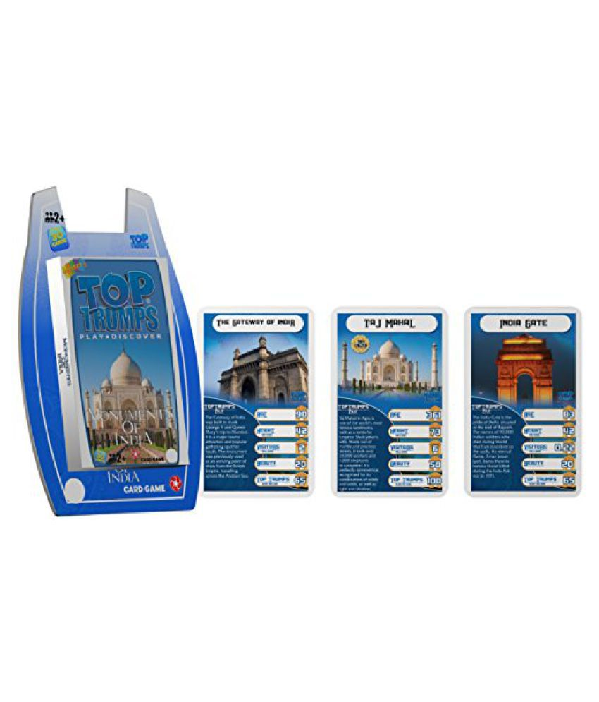 Top Trumps Monuments Of India - Deluxe, Blue/White