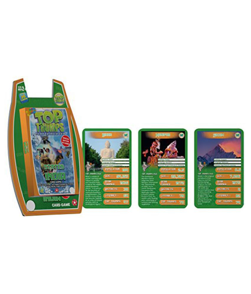 Top Trumps States of India - Deluxe, Green/Blue