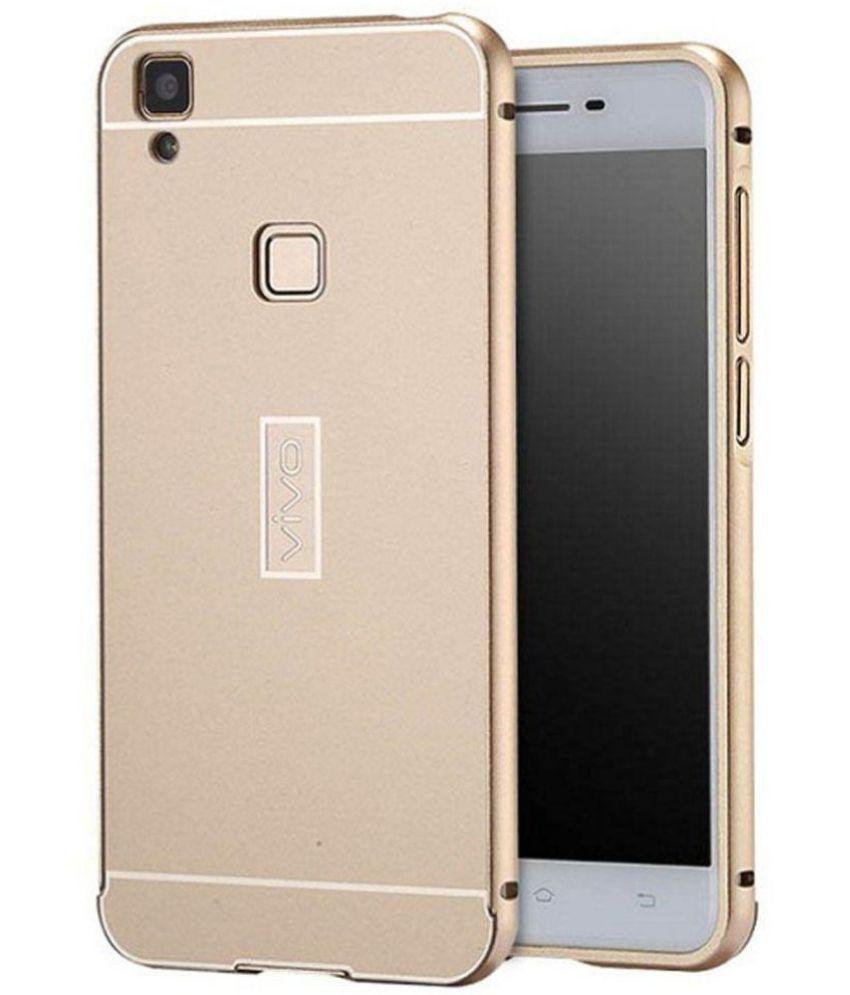 hot sale online 42fb0 e0fb1 Vivo Y31 Mirror Back Covers Kosher Traders - Golden - Plain Back ...
