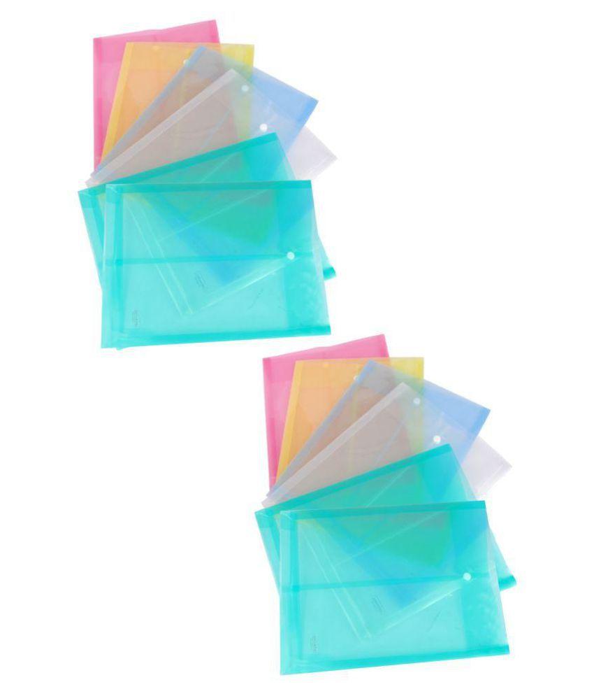 DataKing Polypropylene Envelope Bag Button Closer - Set of 10