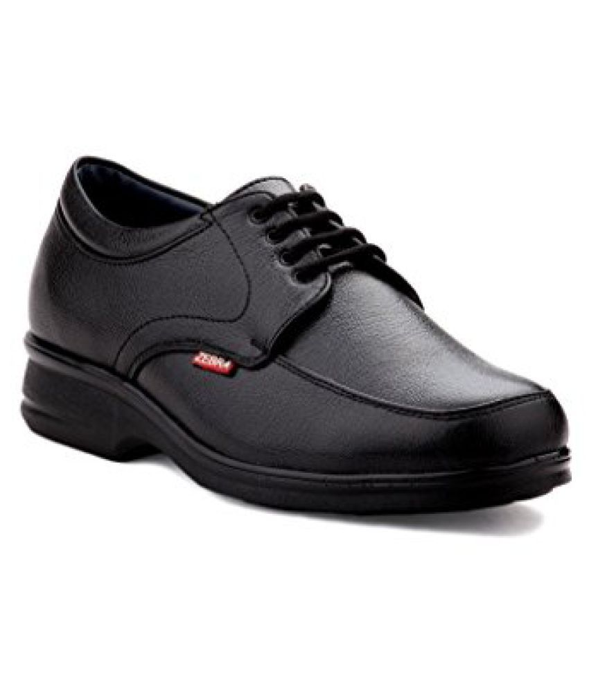 9aa96a8e2 Zebra Mens Comfortable 100% s.Leather Black Formal Shoes - Buy Zebra Mens  Comfortable 100% s.Leather Black Formal Shoes Online at Best Prices in India  on ...