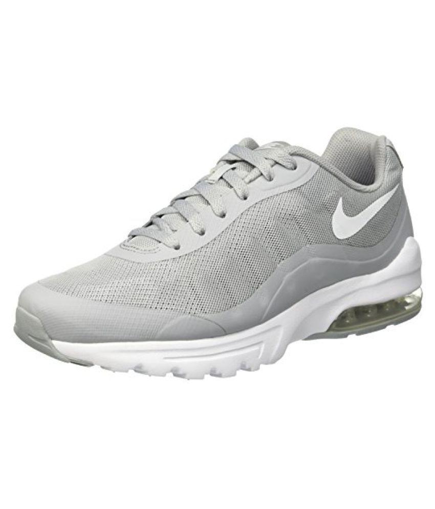 Nike Mens Air Max Invigor Running Shoe Wolf Grey White