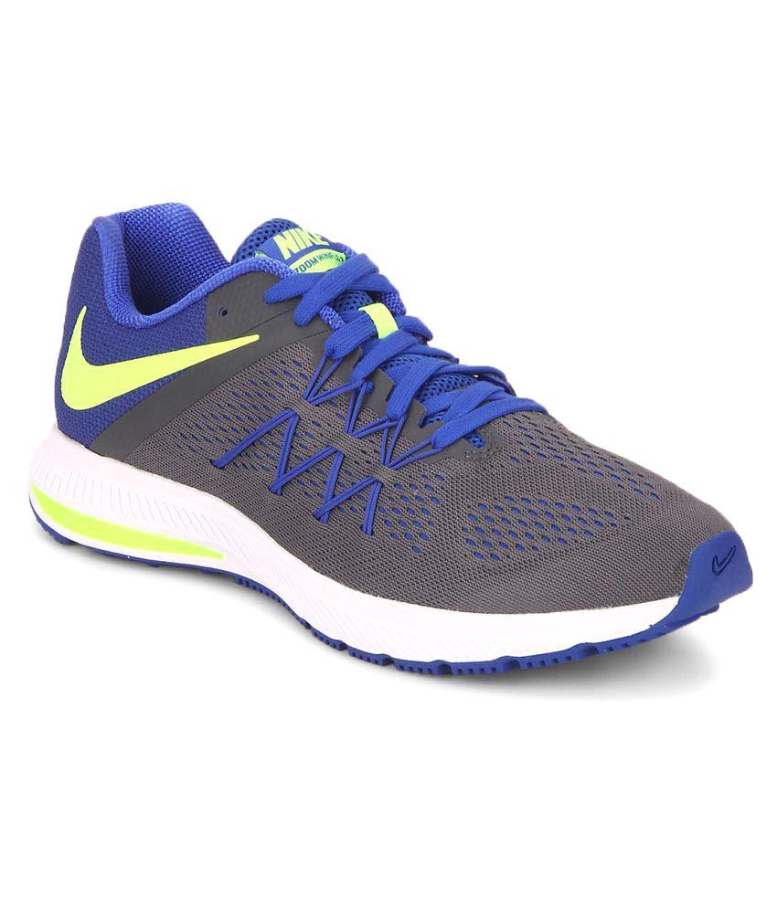 Nike Zoom Winflo 3 Grey Running Shoes - Buy Nike Zoom Winflo 3 Grey Running  Shoes Online at Best Prices in India on Snapdeal 0fbfaa8aaad3