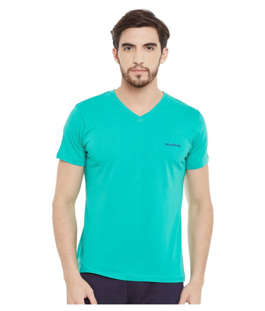 Wineberry Green V-Neck T-Shirt