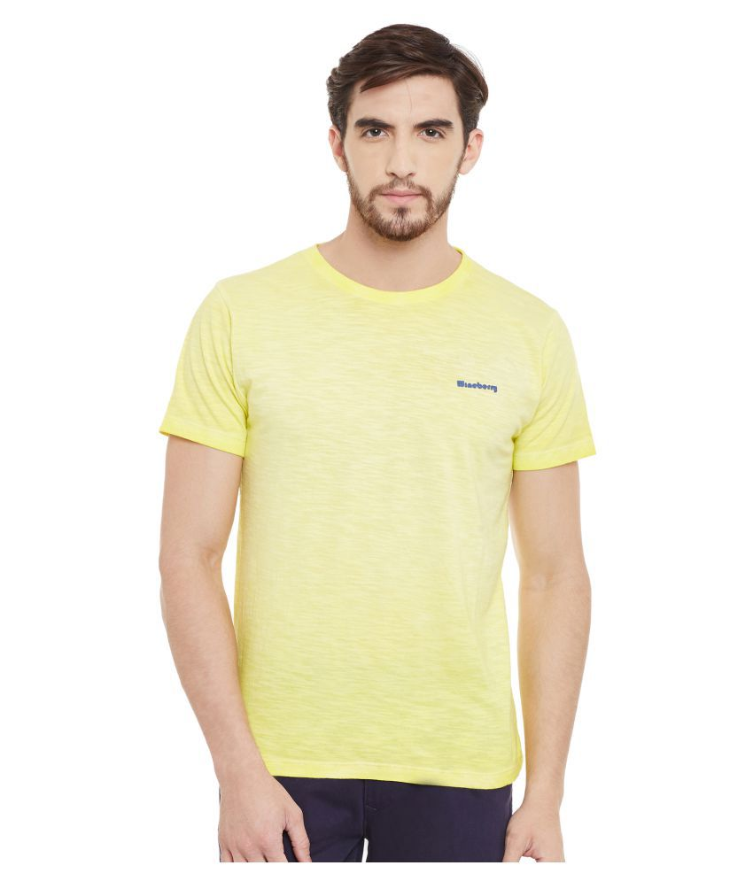 Wineberry Yellow Round T-Shirt