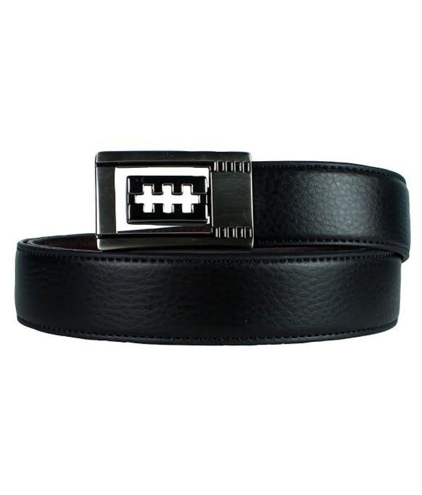 Revo Black Faux Leather Formal Belts