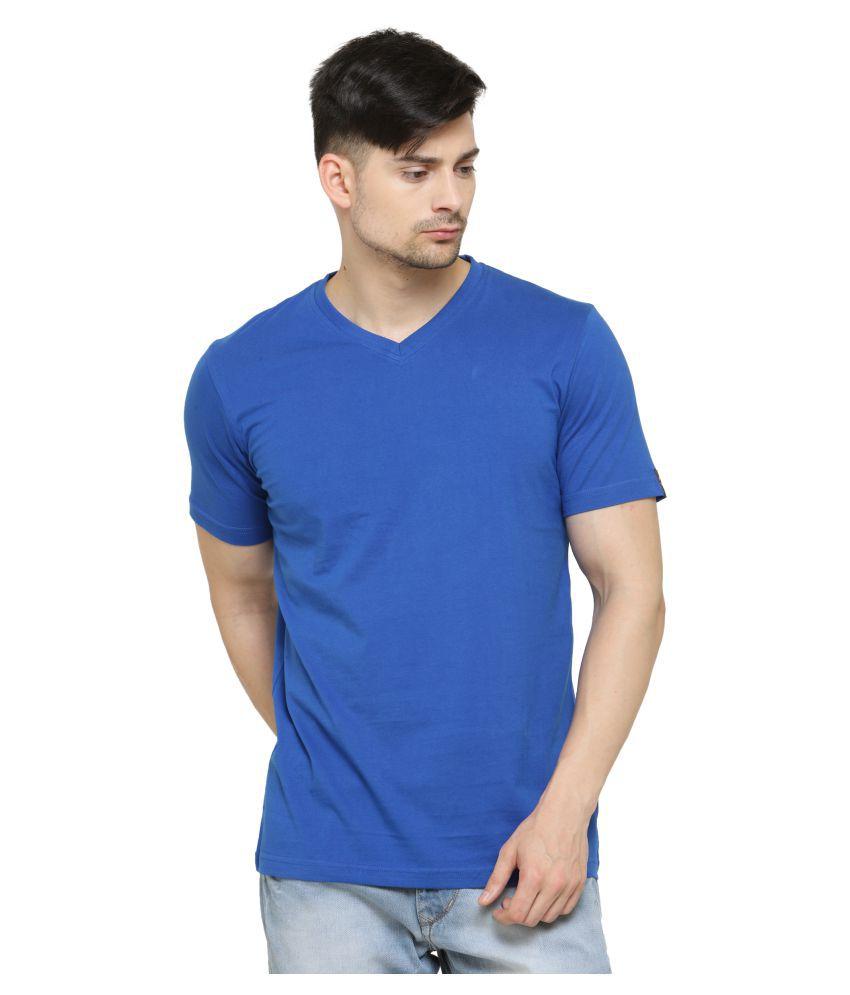 L.A. Seven Blue V-Neck T-Shirt