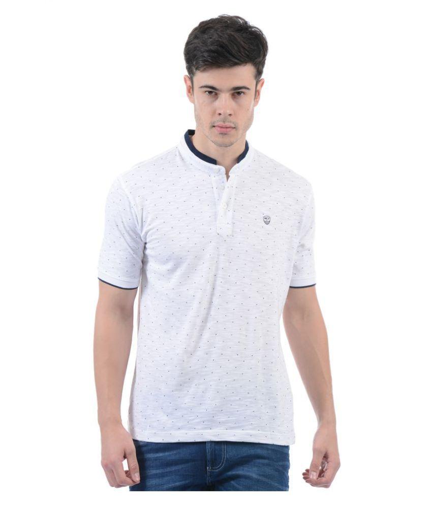 Monte Carlo White Henley T-Shirt