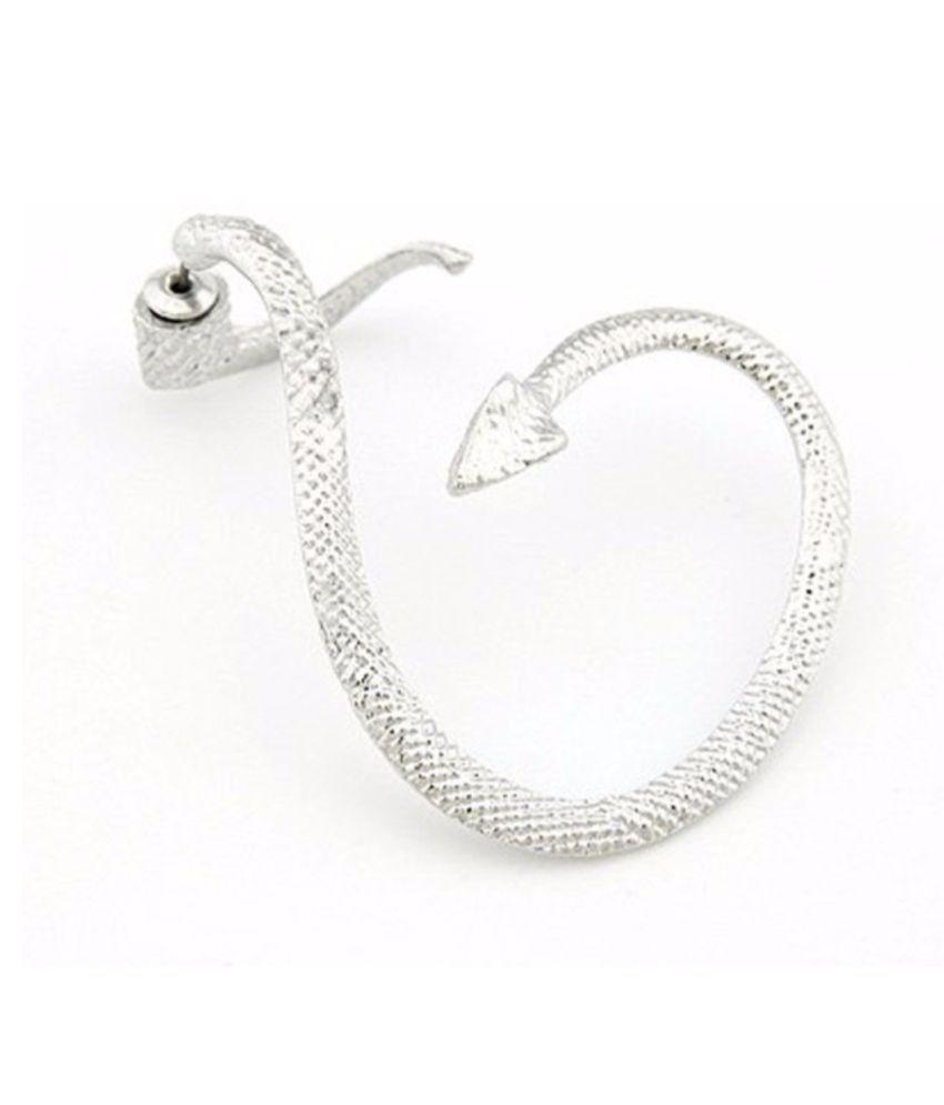 Bolt Small Snake Cuff Drop Earring BLT370