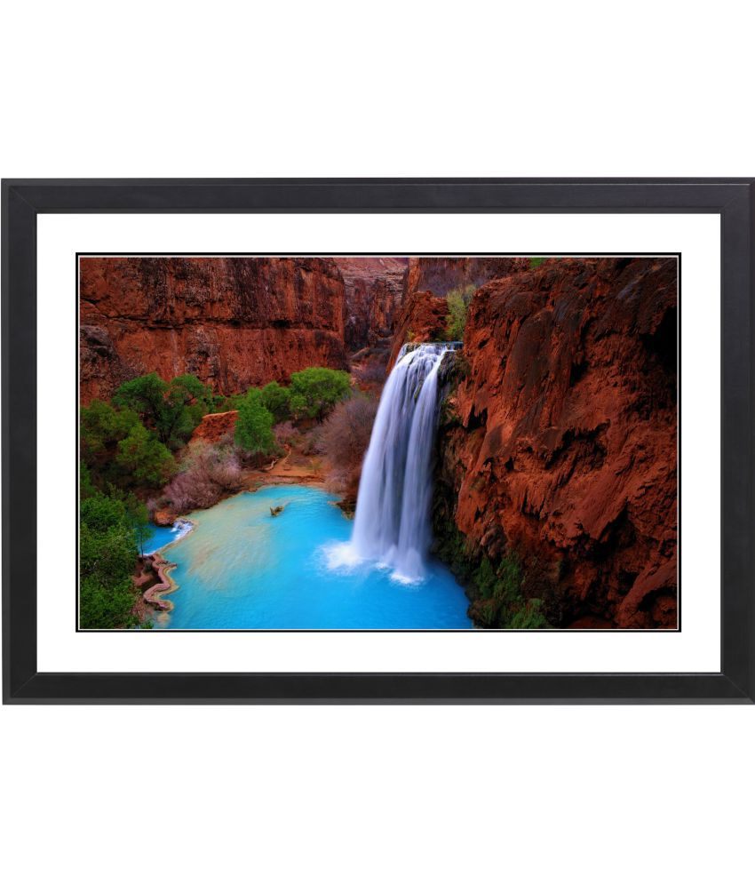 CRAFTSFEST VAASTU WATERFALL MDF Painting With Frame- (30cmX20cmX1.5cm)