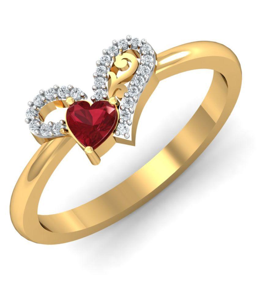 Dishis Designer Jewellery 14k Gold Diamond Ring