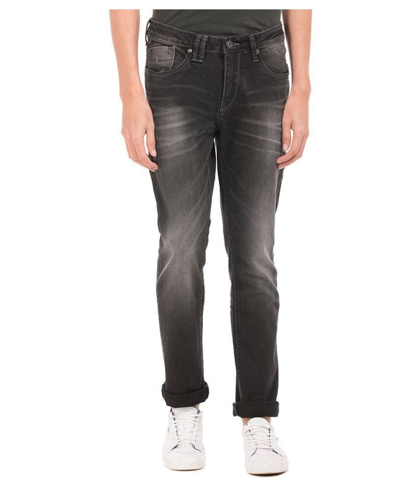 Flying Machine Black Slim Jeans