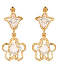 Jewels Gold Artificial Traditional Simple Wedding Earrings Set For Women & Girls