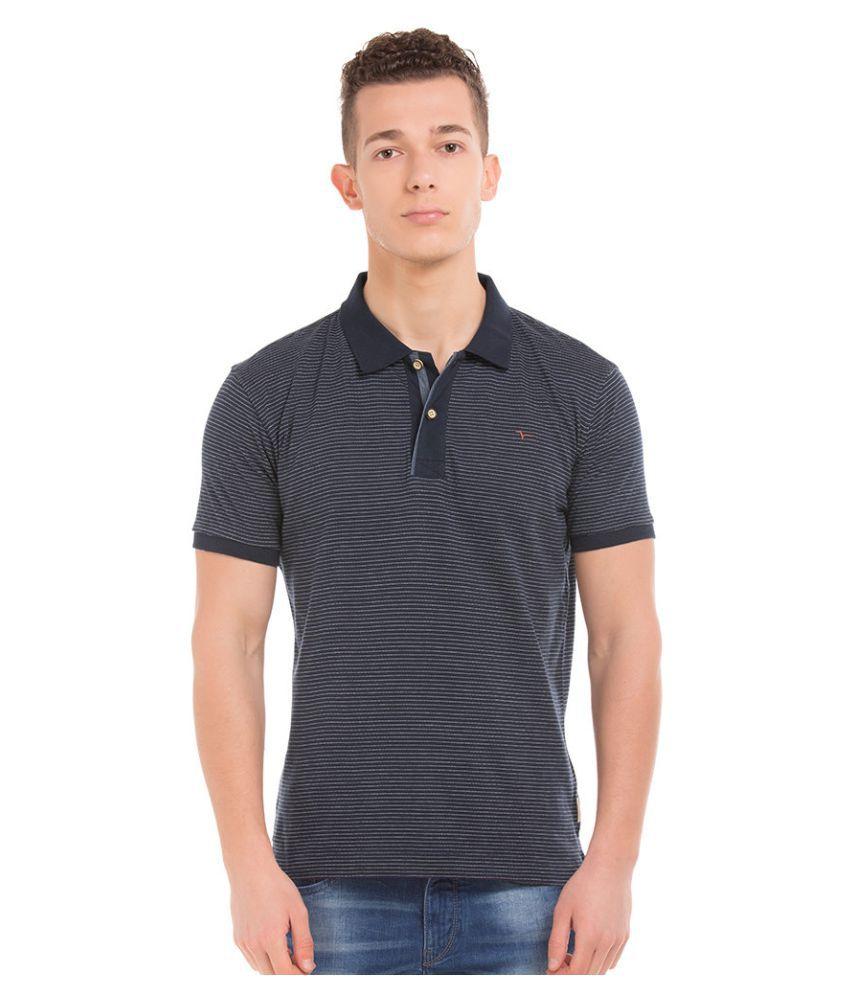 Flying Machine Blue V-Neck T-Shirt