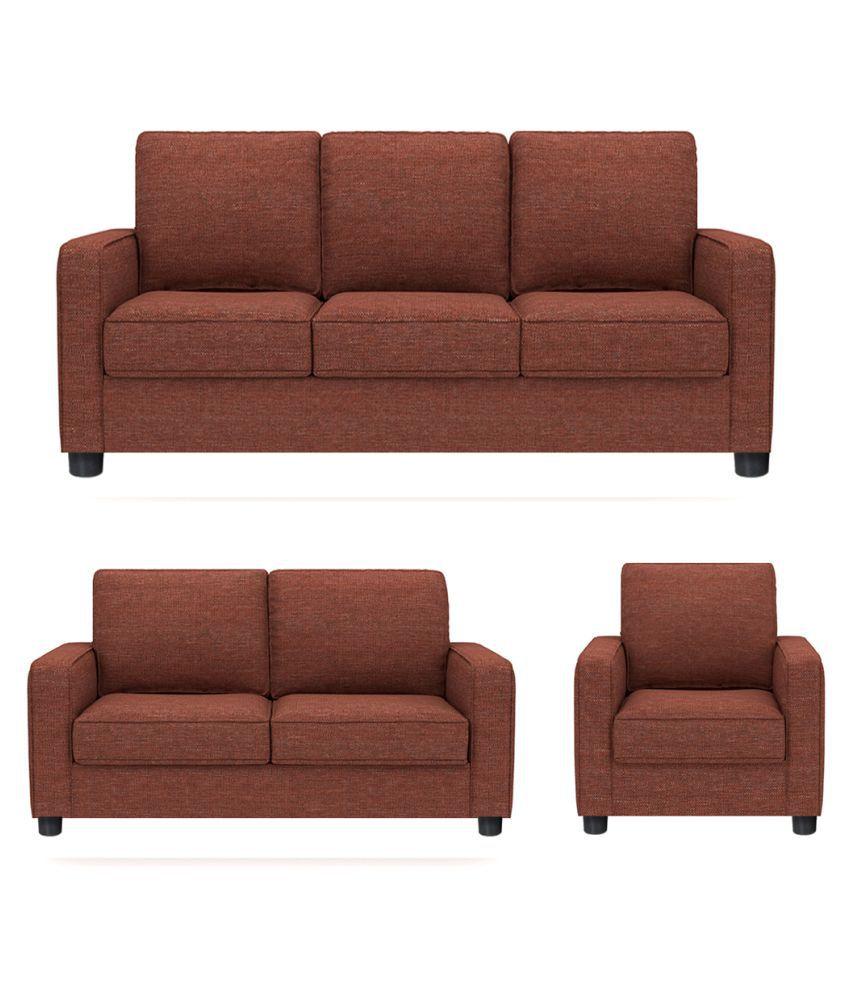 Gioteak alaska maroon 6 seater sofa set 3 2 1 buy for Sofa 6 seater