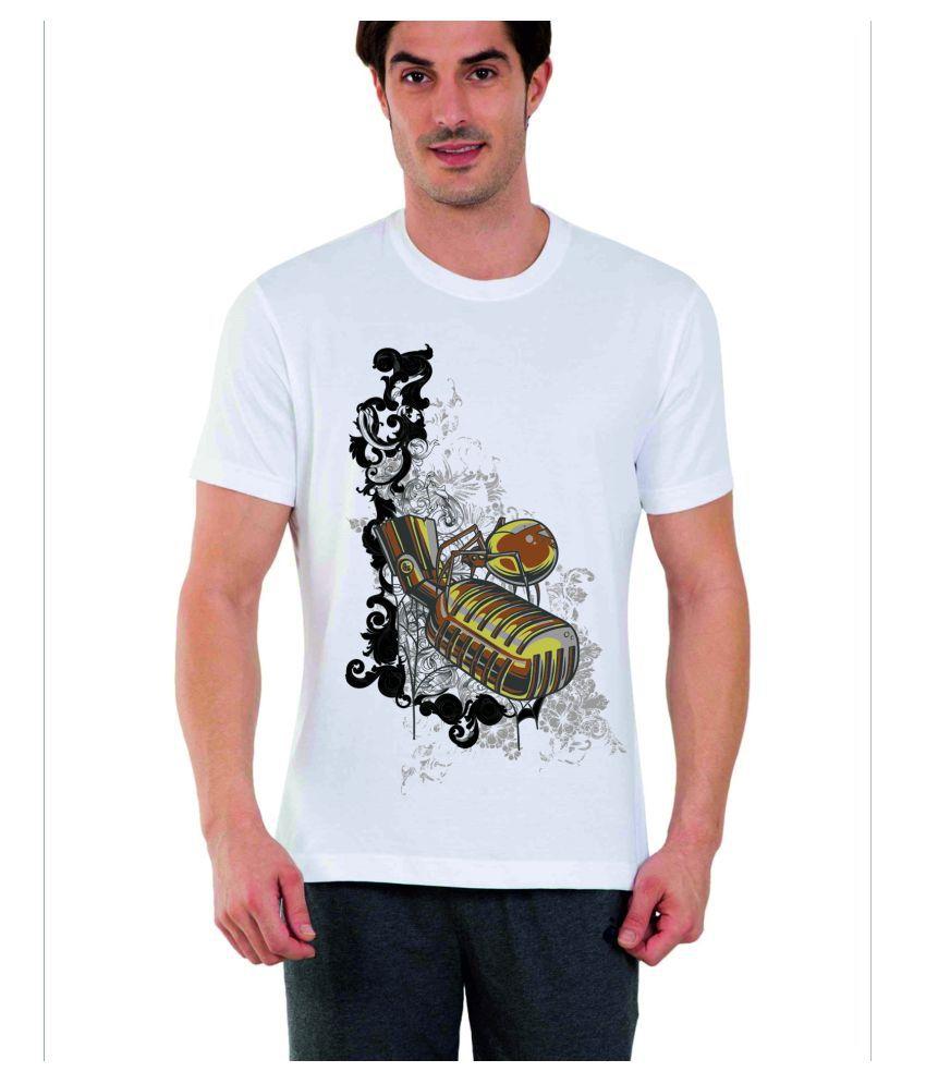 PixArt White Round T-Shirt