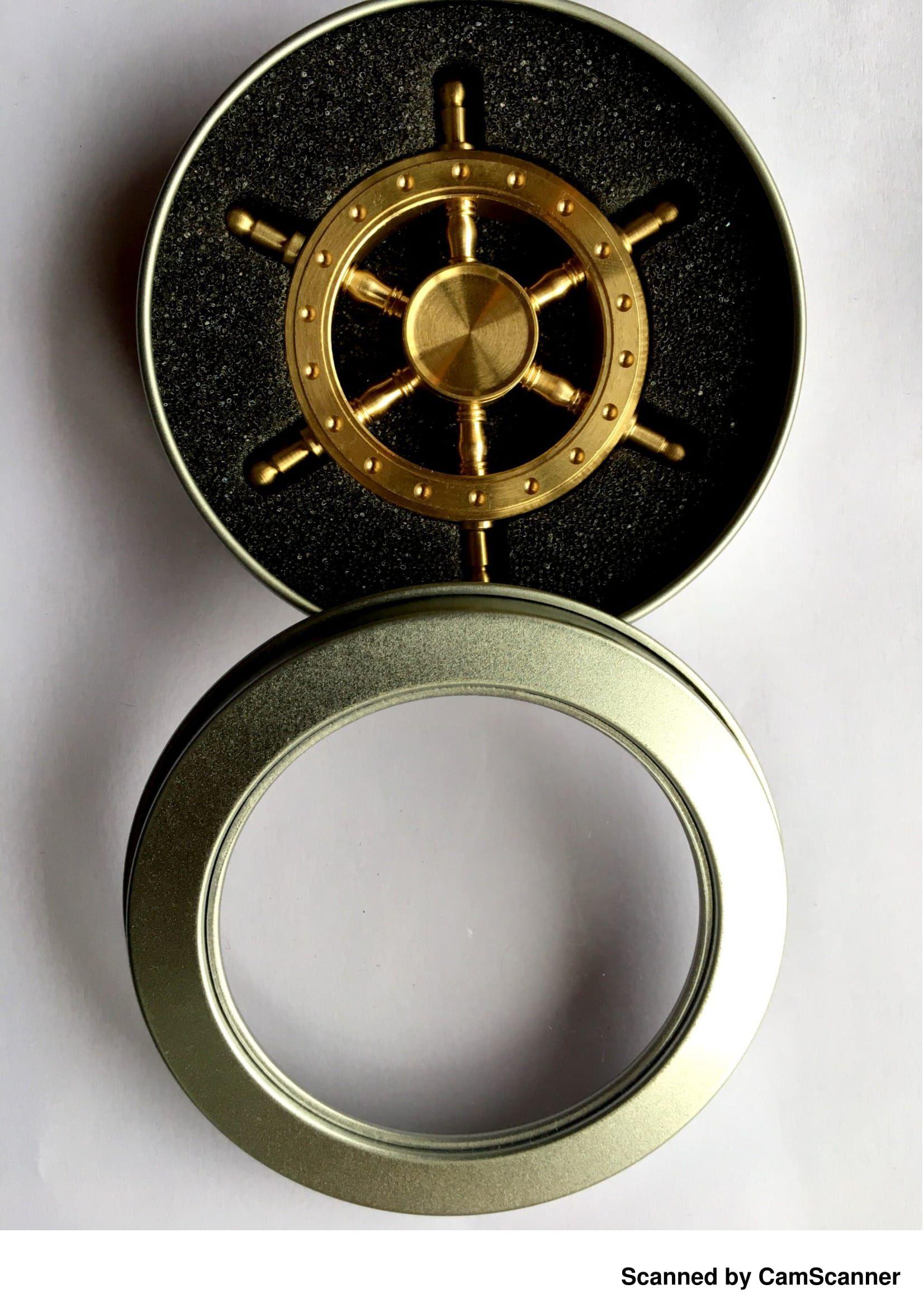 Krypton Gun Metal Openalbe Ship Wheel Fidget spinner 2mints