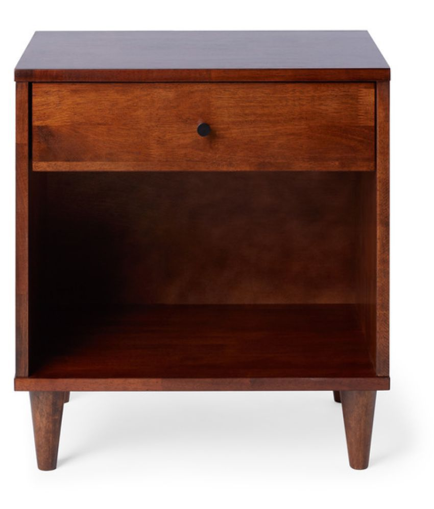 Mid-century Mango Wood Bedside Table